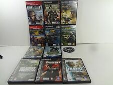 GHOST RECON SOCOM MEDAL OF HONOR CALL OF DUTY BUNDLE PlayStation 2 PS2