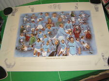 Manchester City Legends of Maine Road Limited Edition Print Signed by 17 Greats!