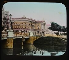 Dutch Colour Glass Magic Lantern Slide Amsterdam Stads Schouwburg Netherlands
