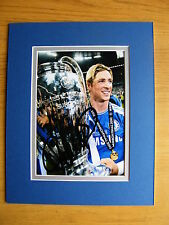FERNANDO TORRES GENUINE HAND SIGNED AUTOGRAPH 10X8 PHOTO MOUNT CHELSEA & COA
