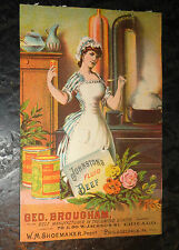graphic Victorian  trade card advertising Johnston's Fluid Beef