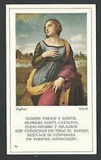 Estampa antigua de Santa Catalina andachtsbild santino holy card
