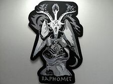BAPHOMET GOAT  WHITE   EMBROIDERED BACK PATCH