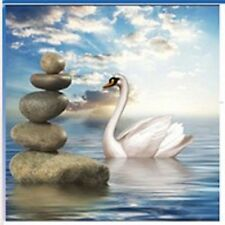 3D Cross Stitch Effect SWAN (Ref 2) Diamond Painting Mosaic Kit 35x35cm