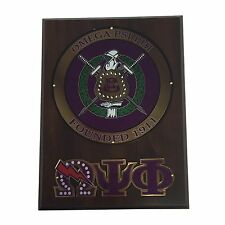 Omega Psi Phi Wall Plaque Circle Crest