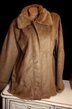 $120 NEW High Sierra Faux Suede shearling Fur Coat Jacket XL or L