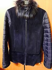Maximilian Bloomingdale's Real Fur Navy Blue Women's Coat Jacket Small $1200.00