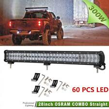 300W 28 Inch 60X OSRAM Led Bar Combo Beam Work Light Off-Road Car Driving Lamp