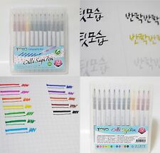 Calligraphy Calli Sign Pen 12 Colors 2 mm NIB Chisel-type pen. Non Toxic.
