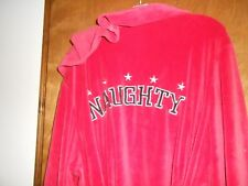 "CACIQUE ""NAUGHTY"" HOODED ROBE SIZE 14/16 LADIES RED VELOUR  26/28"