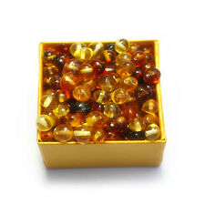 Baltic amber loose beads 100 pcs multicolor