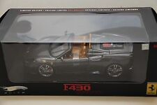 1/18 HOT WHEELS ELITE FERRARI F430 SPIDER IN CHARCOAL GREY , J8245