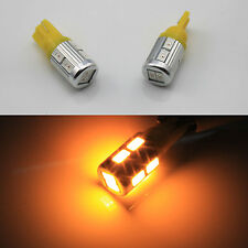 2x T10 194 168 Samsung SMD High Power Amber/yellow LED Light Side/Indicator Bulb