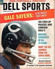 1967 Dell Sports Pro Football Preview, magazine, Gale Sayers, Chicago Bears ~ Gd