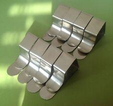 8 British steel Tovaglia clip gratuita di Royal Mail post lo stesso giorno