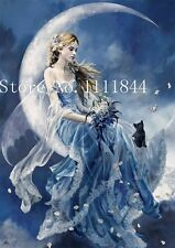 BNIP CCS Lovely Lady in the Moon 14 ct Cross Stitch Kit 39 x 54cm