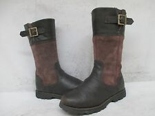 TIMBERLAND Brown Suede Leather Zip Fashion Boots Youth Size 2.5