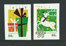 AUSTRALIA 2012 CHRISTMAS SET OF 2 S/A WITH EMBELLISHMENTS  UNMOUNTED MINT, MNH.
