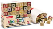 Melissa & Doug WOODEN ABC/123 BLOCKS Baby/Toddler/Child Wooden Toys BN
