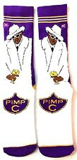 ODD SOX PIMP C SWEET JONES FUR COAT FUZZY CREW SOCKS MENS ADULT UGK CUP LOGO NWT