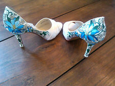 Touch Ups By Benjamin Walk Hand Custom Painted Wedding Bridal Shoes NEW Size 8.5