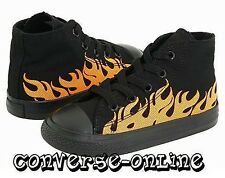 BABIES Kids Toddler Boys CONVERSE All Star BLACK FLAME HI TOP Trainers UK SIZE 4