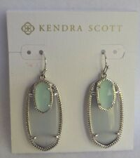 NIB Kendra Scott Slate Gray and Green Chalcedony Color Double Stone Earrings