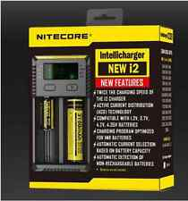 New Nitecore Intellicharger i2 Li-ion/NiMH Universal Battery Charger US/AU/EU