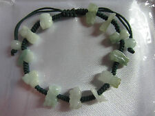 Chinese 12 Animals Zodiac FENG SHUI LUCKY Natural Jade Bracelet - Green thread