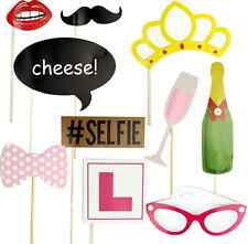 DIY Mustache On A Stick Photo Booth Prop Kit Night Hen Party Accessories US