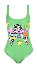 New 2016 Moschino Ladies Swim Suit Power Puff Girls Moschino Couture Green