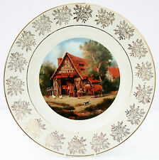 Vintage Large Collector Plate Village Life Blacksmith by Paetz-Kalich