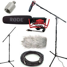 Rode VideoMic Studio Boom Kit - Grey DeadCat, Boom Stand, Adapter, 25' Cable