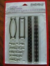 Stampendous Perfectly Clear Rubber Stamps Ribbon Sliders SSC057  NEW