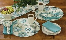 Cara Floral Cotton Round Placemat ~ Quilted