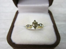 GORGEOUS ESTATE 14 KT GOLD .61 CTW CHAMPAGNE BROWN DIAMOND RING !!!!!!!!!!
