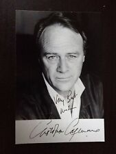 CHRISTOPHER CAZENOVE - LATE GREAT ACTOR - ZULU DAWN - SUPERB SIGNED PHOTOGRAPH