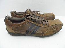Skechers Relaxed Step Lace Ups Brown Leather Men Casual shoes Size 11.5