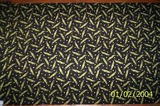 New Black with Peas in a Pod 100% Cotton Fabric by the 1/4 yard