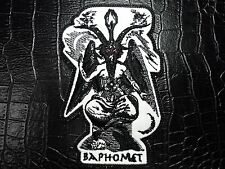 BAPHOMET  BLACK AND WHITE EMBROIDERED  PATCH