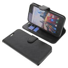 Tasche für Archos 55 Helium Plus Smartphone BookStyle Schutzhülle Buch Schwarz