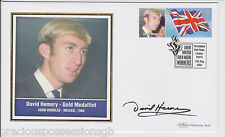 GREAT BRITISH GOLD MEDAL WINNERS SIGNED  FDC COVER DAVID HEMERY 2004
