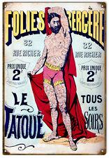Nostalgic Folies Bergere Tatoue Circus Sign