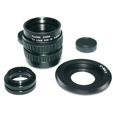 Fujian 35mm f/1.7 CCTV cine lens for M4/3 / MFT Mount Camera & Adapter bundle ne