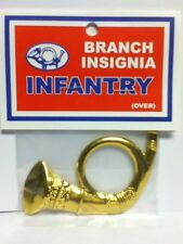 "3"" X 2 1/4"" BRASS INFANTRY BRANCH INSIGNIA HAT KEPI ATTACHMENT NEW"