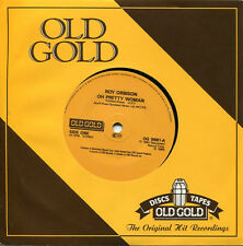 "Roy Orbison ""Oh Pretty Woman / Mean Woman Blues"" - Old Gold U.K. 45rpm store sto"