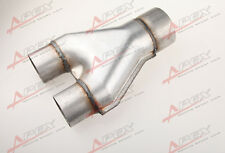 "Universal Custom Exhaust Y-Pipe 2.5"" Dual 3"" Single Aluminized Steel"