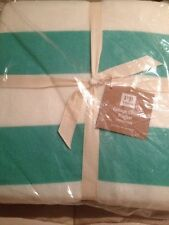 Pottery Barn Teen Cottage Stripe Blanket Full Queen F/Q NWT Pool