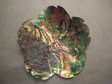 New Zealand Abalone Shells Center Drilled Pendant 1pc