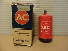 Buick 63-66 NOS AC Delco Gasoline Fuel Filter GF-423 Red W/ Air Conditioning